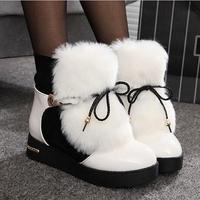Free shipping plus size36-40 fashion elegant lady's short boots winter warm fur charming warm snow boots women winter shoes