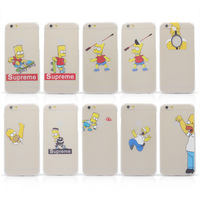 Free shipping! 4.7 Inch for iphone 6 Case Ultra-thin Cartoon Case Simpleness Hard Cover PC Material Cartoon pattern covers Case