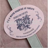 Wholesale,(1 Lot =300 Pcs) 4*3.3 CM DIY Scrapbooking Vintage Sealing Sticker Kraft Paper Hand Made Labels Baking Sticker