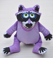Purple Coon-- The cartoon Cotton animal shapes Dog Toys Pet  Vocalization cat Toys