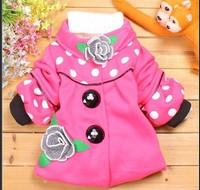 Retail! New 2013 Autumn and Winter Child Flower Outerwear Children Coat Children Clothing Girl Jackets Girl's Outwear