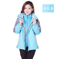 2014 Outdoor fleece Waterproof Hiking Hoodies Windbreaker Ski coats Jackets Camping Wear Double Layer 2in1 Sking Outerwear A1011