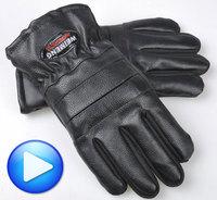 11.11 Winter with cotton leather gloves man PU add fertilizer antiskid warm Korean men's leather motorcycle gloves wholesale