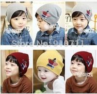 New winter Children's hat qiu dong Beautiful star children knitted turtleneck cap,1pcs/lot ,free shipping