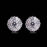 Hot Fashion Earrings AAA Environmental Platinum Plated Zircon Earrings
