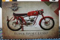 Super sport Lusso Tin Sign, Gas Oil, Rat Rod, Street Rod, Man Cave K-05