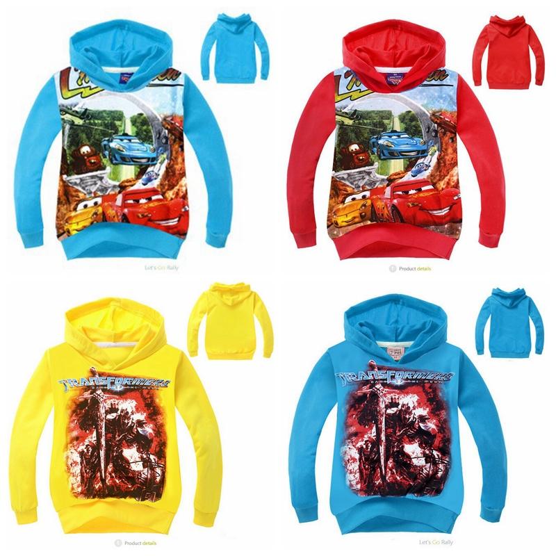 New Kids carros cartoon hoodies meninos Outono roupas de lazer com capuz terry camisolas de manga longa infantil em estoque(China (Mainland))