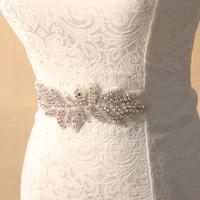 New arrive handmade rhinestone wedding dress belt vintage winter bride bridesmaid flower sash shinning beaded waistband  BW014