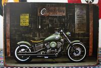 """Road Works"" Motorcycle, Vintage, Retro,Tin Sign, Gas Oil, Rat Rod, Street Rod  K-03"