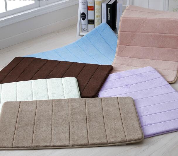 50 80cm Memory Foam Bathroom Carpet Bedroom Mat Home Door