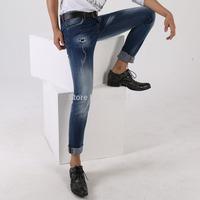 Free shipping 2014 New hole Men fashion jeans high quality brand Dsq skinny jeans for men designer D2 slim jeans for men 1402