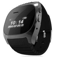 R-Watch Smartwatch M18 LCD Bluetooth Watch with Digital Display Elliptical Dial Silicon Watch Band