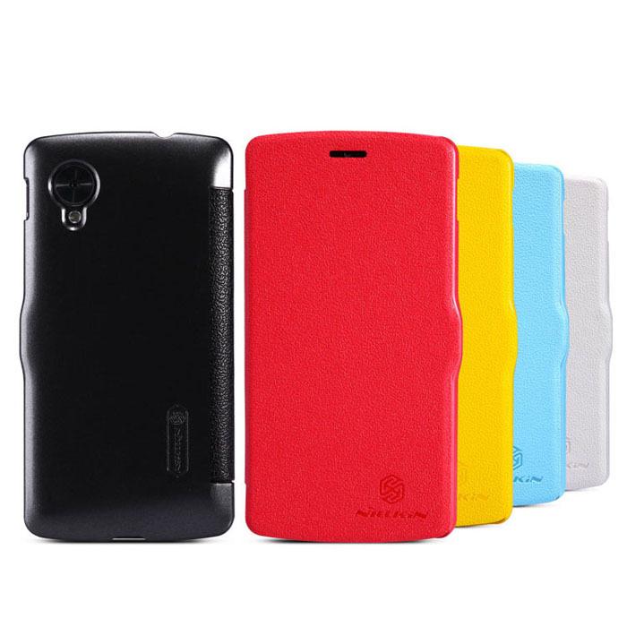 2014 Incrível Nillkin inteligente couro flip capa dura Capa Google LG Nexus 5 Baleia(China (Mainland))