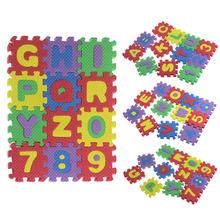 Número 36PCS Bebé Niño común partido del alfabeto EVA Foam Rompecabezas Mat Matemáticas Cartas de juguetes educativos de Navidad Suzie Regalo(China (Mainland))