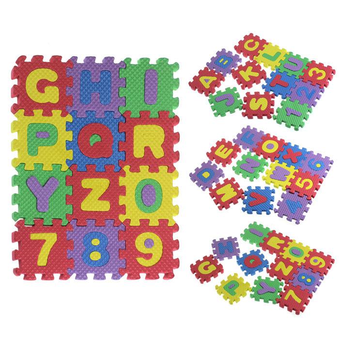 36PCS Baby Child Split Joint Number Alphabet EVA Foam Puzzles Mat Ma