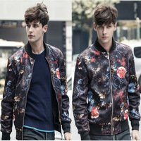 Mens Jacket Fall Winter Clothing Korean Fashion 3D Printing Collar Man Jacket Coat Male Plus Velvet Outdoors Brand Jackets New