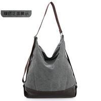 Fashion leaisure style unisex canvas teenager School bag Campus women shoulderbags and men messenger bag