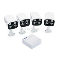 1pc Escam Super Mini 4CH NVR Kit K104 1080P 4CH NVR + 4pcs Escam QD300 720P IP IR Bullet Network Camera
