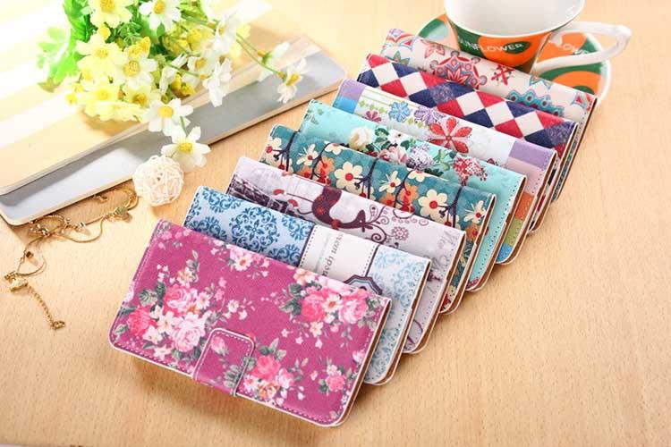 para lg google nexus 5 alta qualidade luxo couro pu lindas flores padrão coldre caso carteira flip telefone estande casos cover(China (Mainland))