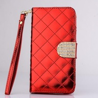 High quality shiny leather wallet case for Samsung Galaxy S5 i9600