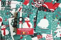Free shipping  Cartoon Christmas Poster postcards 30 pcs/set Merry Christmas Card/Greeting Card/wish Card/Fashion Gift