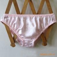 6pcs lady's Soft 100% silk Underwear Soft  real silk Panties colors by random