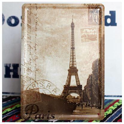Nova Marca Torre Eiffel de Metal Craft Tin Artesanato Vintage Home Decor Ferro Stamp Bed Room envio Wall Art Livre(China (Mainland))