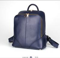 New winter Double shoulder handbag The fashion leisure female Leather double zipper bags