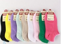 The new solid color cotton socks invisible socks boat socks foreign trade wholesale factory direct