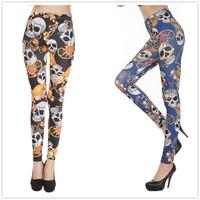 3 Colors Women Casual Leggins Digital Dimond Skull Print Funk Pants Fitness LEGGINGS  Polainas punk Jogar a calcinha