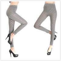 New 2014 Women Leggins Digital Classic Square Print Pants Fitness LEGGINGS  spandex Polainas Woman Jogar a calcinhaFree Shipping