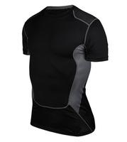 2015 Style PRO men's sports tight training short sleeve T-shirt Quick-drying sweat T-shirt