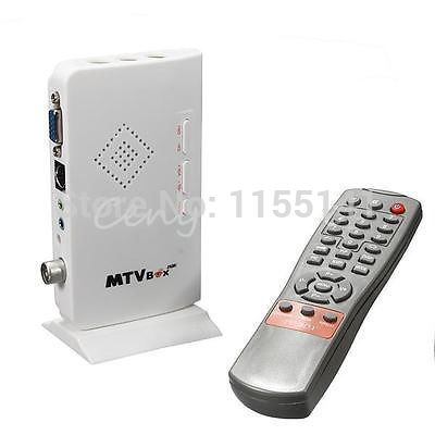 LCD VGA External TV PC BOX Digital Program Receiver Tuner HDTV HD 1080P+Speaker(China (Mainland))
