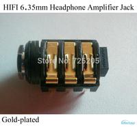 HIFI 6.35mm Headphone Amplifier Jack Gold-plated Switzerland NEUTRIK Socket Audio Stereo DIY Free Shipping
