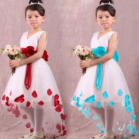 flower girl dresses for weddings 2 colors ,girls pageant dresses,wedding party dress, children V-neck princess dress H2159