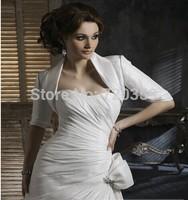 Free shipping!  Very shine white half sleeves Jacket / Wedding Wrap / Bolero Jacket,Wedding Accessory