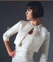 Free shipping!  very beautiful  white long Sleeves Jacket / Wedding Wrap / Bolero Jacket,Wedding Accessory