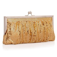 The moonlight flower brand new 2014 ladies handbags fashion exquisite Handmade GOLD SEQUIN ladies dinner hand bag