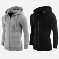 Cardigan Hooded Zip Hoodies For Men Sweatshirts Black/Grey sudaderas hombre chandal Outdoor Sportswear Sport Clothing Tracksuit