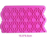 Free Shipping Silicone Mould Cake Lace Border Fondant Decorating Tool Mold Irregular Figure Icing