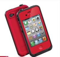 New Life Water/Dirt/Snow Proof protective cover case for apple iphone 4 iPhone 4s cover Free Shipping