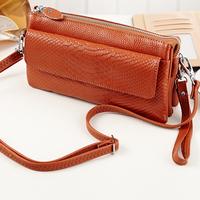 Free Shipping New Fashion crocodile pattern Women's Genuine Cow Leather Handbags,Lady's Messenger Bags wallet,sling bag LYSL-712