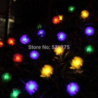 20 led solar lamp series of maomao ball lamps garden courtyard lights holiday lights Christmas