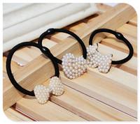 hairpinHappyBaby pearl headwear hairbands headbands Hair Band Elastic Ties scrunchies scrunchy hair rope Headwrap Bandeau DP-20