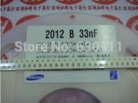 0805 33NF 333K X7R 50V +-10% SMD Ceramic capacitor CL21B333KBANNNC RoHS 4000PCS/LOT Free Shipping