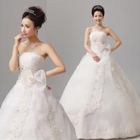 mermaid wedding dresses Wedding dress 2014 wedding pressure pleated princess bride wedding married tube top slim
