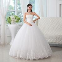 Women Wedding Dresses Yarn 2014 tube top sweet princess straps