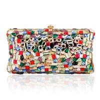 Brand new 2014 ladies handbags fashion dazzling luxury colorful gems Shouzhua package banquet Diamond Ladies Crossbody Bag