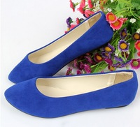 The spring and Autumn period and the new flat documentary shoe cusp women suede comfort flats size 35-41 s1022