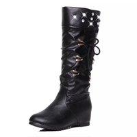 size35-39 2015 women fashion snow boots knee high black white winter shoes for womanbotas femininas
